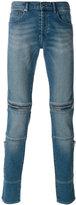 Givenchy zip trim slim fit jeans