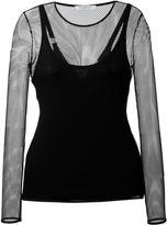 Max Mara mesh long sleeve top