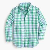 J.Crew Kids' Secret Wash shirt in spring gingham
