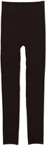 Coffee Fleece-Lined Cable Knit Leggings