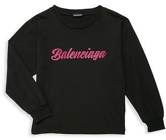 Balenciaga Little Kid's & Kid's Script Logo Sweatshirt