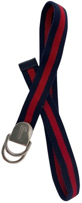 Gucci Navy Cloth Belts.Suspenders