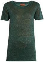 Missoni Round-neck metallic-knit T-shirt