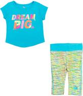 Cutie Pie Baby Turquoise 'Dream Big' Tee & Abstract Capri Pants