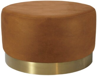 Darcy And Duke Milan Ottoman Tan Large