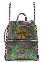 Gucci Embellished brocade drawstring backpack