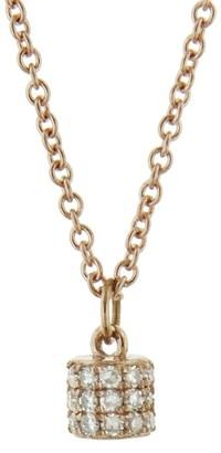 Lee Jones Diamond Fairy Dust Rose Gold Choker Necklace