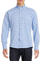 Richard James Butterfly Embroidered Oxford Shirt