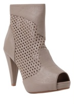 Mary Taupe Perforated Bootie (Wide Width)