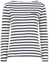 Maison Labiche Stripe Printed Amour Slogan T-Shirt