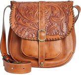Patricia Nash Burnished Tooled Barcelona Saddle Bag