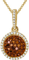 FINE JEWELRY LIMITED QUANTITIES 1/3 CT. T.W. White and Color-Enhanced Cognac Diamond Pendant Necklace