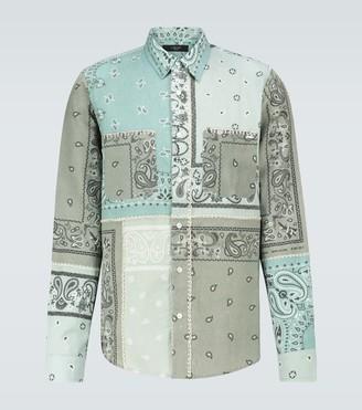 Amiri Bandana Reconstructed flannel shirt