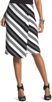 Chico's Striped Ponte Skirt