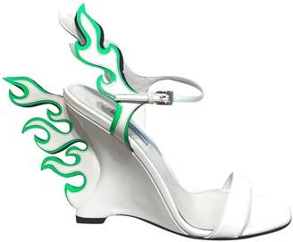 Prada Flame Green Patent leather Heels