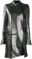 Ann Demeulemeester asymmetric zip coat - women - Linen/Flax/Nylon/Polyamide/Virgin Wool - 36