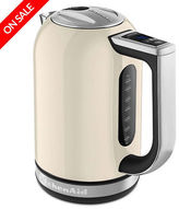 KitchenAid NEW KEK1722 Almond Cream Electric Kettle
