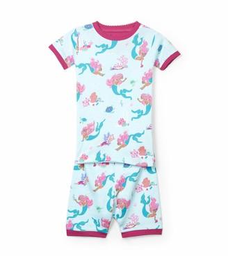 Hatley Girl's Organic Cotton Short Sleeve Printed Pyjama Sets