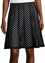 WORTHINGTON Worthington Spliced Flared Skirt