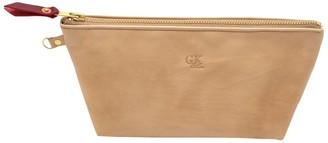 General Knot & Co Blond Leather Zipper Clutch