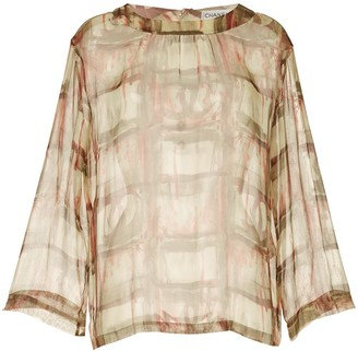 Chanel Pre Owned 1998 Long Sleeve Sheer Top