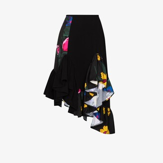Marques Almeida reMAde Patchwork Handkerchief Midi Skirt