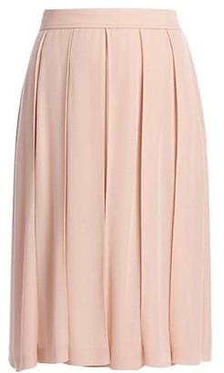 Loro Piana Juan Cashmere & Silk Pleated Skirt