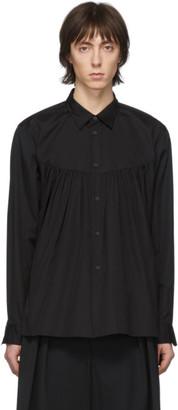 Comme des Garcons Black Broad Front Pleats Shirt