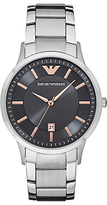 Emporio Armani Ar2514 Date Bracelet Strap Watch, Silver/grey