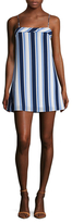 Lucca Couture Striped Spaghetti Strap A Line Dress
