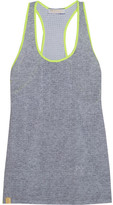 Monreal London Perforated Stretch-jersey Racer-back Tank - Gray