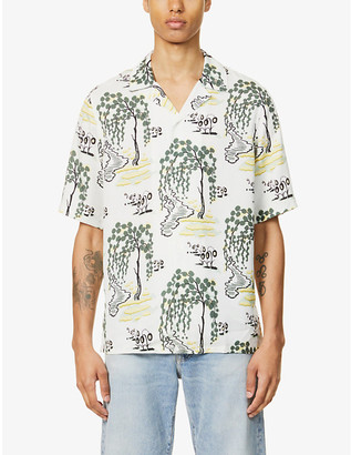 Samsoe & Samsoe Oscar graphic-print lyocell shirt