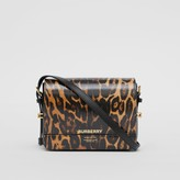 Burberry Small Leopard Print Leather Grace Bag