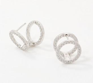 Diamonique x Lisa Freede Huggie Hoop Earrings 2.0, Sterling Silver