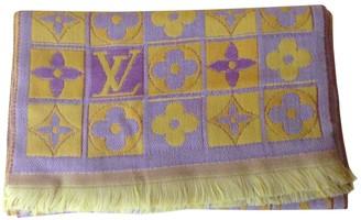 Louis Vuitton Yellow Wool Scarves