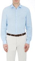 Piattelli MEN'S SLUB-WEAVE SHIRT-LIGHT BLUE SIZE XL
