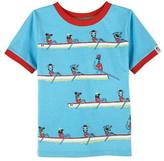 Andy & Evan Animals Rowing Stretch Jersey Tee, Blue, Size 2-7