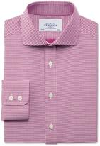 Charles Tyrwhitt Slim fit star weave spread berry shirt