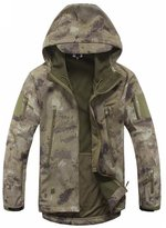 Baqitrade Military Jacket Men Softshell Waterpoof Camouflage Hoody Jacket Male Coat M