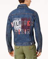 Tommy Hilfiger Men's Graphic-Print Denim Jacket