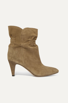 Isabel Marant Dedie Suede Ankle Boots - Taupe