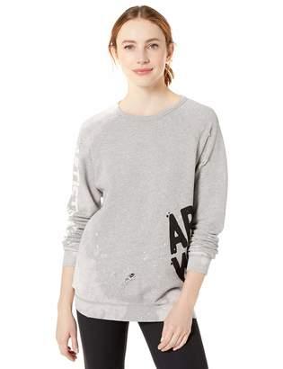 Freecity Women's AW Destroy Holes Splash Raglan Sweatshirt