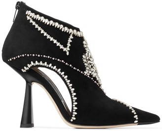 Jimmy Choo Kendrix embroidered booties