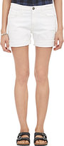 Current/Elliott Women's The Slouchy Cut-Off Shorts-WHITE