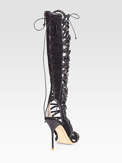 Webster Sophia Clementine Leather & Suede Lace-Up Boots