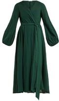 Kalita Gaia Cotton-gauze Wrap Dress - Womens - Dark Green