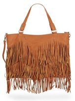 Urban Originals Ziggy Fringe Faux Leather Convertible Tote