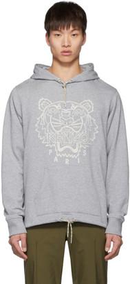 Kenzo Grey Blanket Stitch Tiger Hoodie