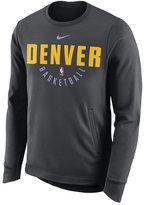 Nike Men's Denver Nuggets Practice Therma Crew Sweatshirt