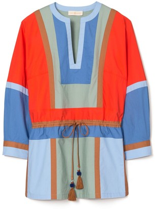Tory Burch Color-Block Poplin Tunic